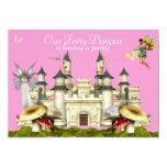 rosa de hadas de la invitación del castillo de la invitación 12,7 x 17,8 cm