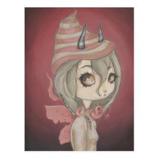Rosa de hadas de la postal del dragón