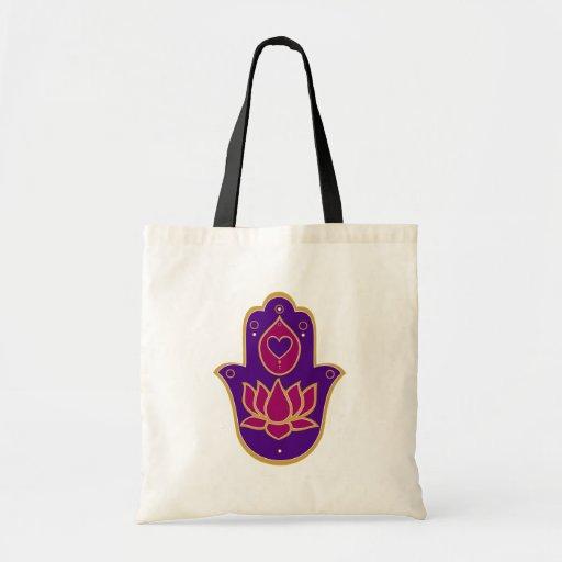 Rosa de Hamsa Lotus de la alheña Bolsa Tela Barata