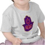 Rosa de Hamsa Lotus de la alheña Camisetas