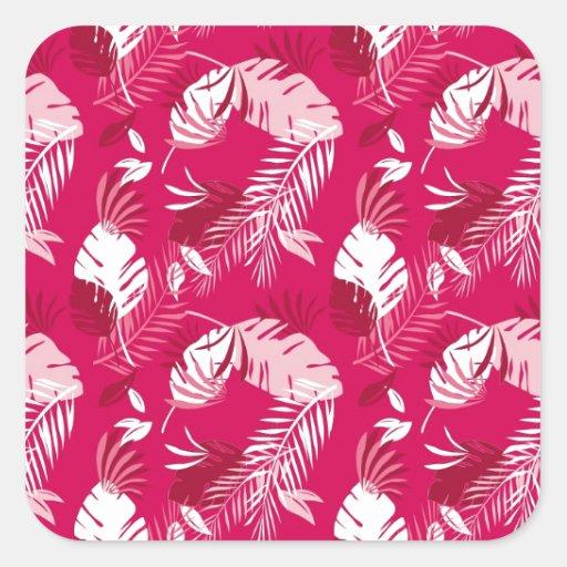 Rosa de Honolulu Pegatina Cuadrada