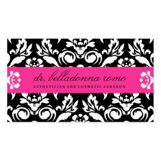 Rosa de Hott del damasco de 311 belladonas Tarjetas De Visita