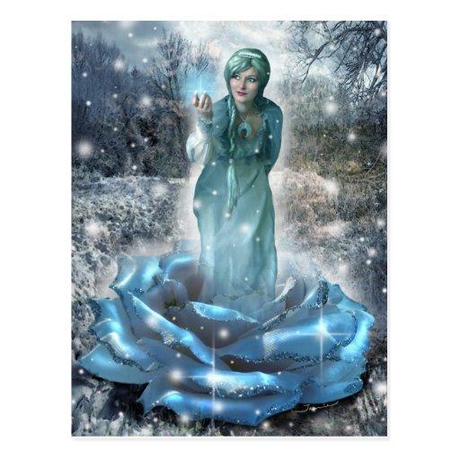 Rosa de invierno (postal) tarjeta postal