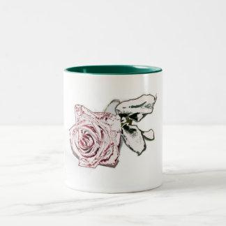 Rosa de invierno taza de dos tonos