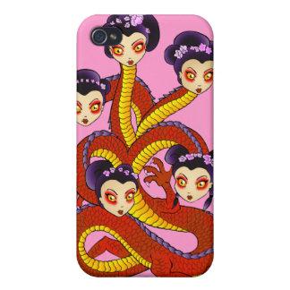 ¡Rosa de IPhone de las mujeres del dragón! iPhone 4/4S Carcasa