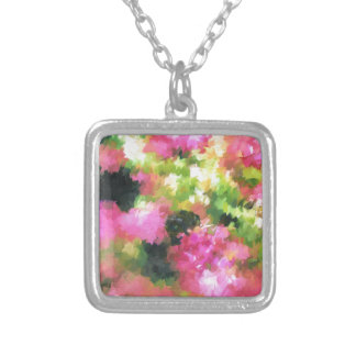 rosa de jardín abstracto de flores de la abeja de colgante cuadrado