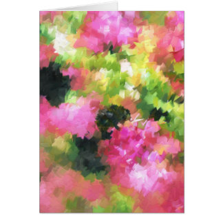 rosa de jardín abstracto de flores de la abeja de tarjeta de felicitación