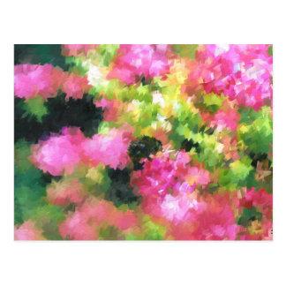 rosa de jardín abstracto de flores de la abeja de postal
