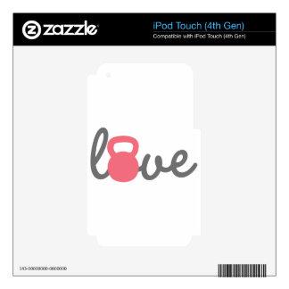 Rosa de Kettlebell del amor Calcomanía Para iPod Touch 4G