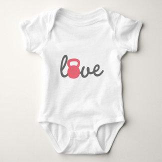 Rosa de Kettlebell del amor Mameluco De Bebé
