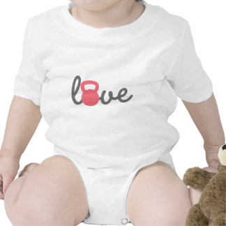 Rosa de Kettlebell del amor Trajes De Bebé