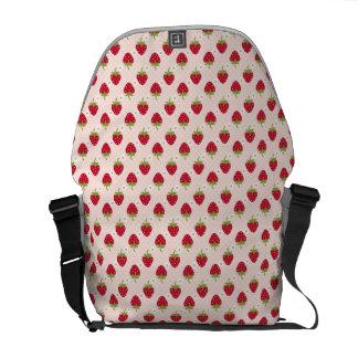 Rosa de la bolsa de mensajero de la fresa bolsas de mensajería