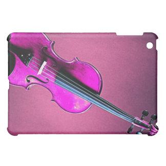 Rosa de la caja de la mota del ipad del violín o d