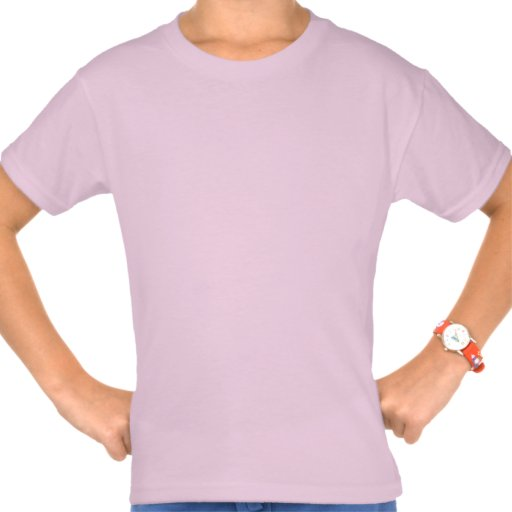 Rosa de la camiseta del chica rosado de la estrell