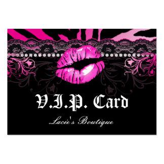 Rosa de la cebra de los labios del cordón de la ta tarjeta de visita