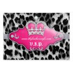 Rosa de la corona del leopardo de la tarjeta del c tarjetas de negocios