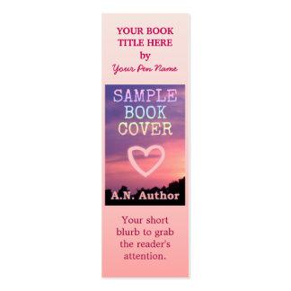 Rosa de la cubierta de libro de la promoción del tarjetas de visita mini