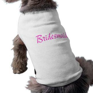 Rosa de la dama de honor camisetas mascota