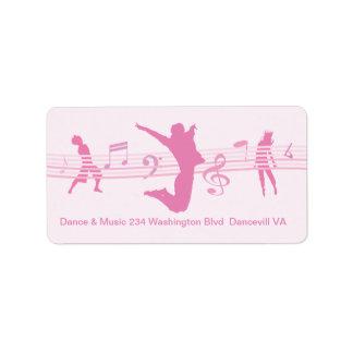 Rosa de la danza y del drama de la música etiquetas de dirección
