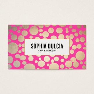 Rosa de la diversión y salón de belleza moderno tarjeta de negocios