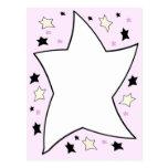 rosa de la estrella tarjetas postales