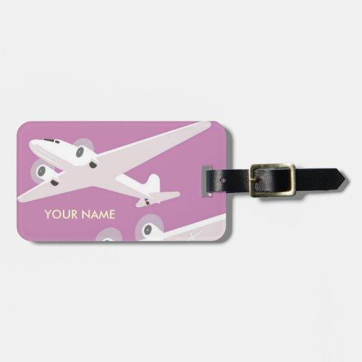 Rosa de la etiqueta del equipaje del viaje del vin etiqueta para equipaje