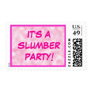Rosa de la fiesta de pijamas sellos
