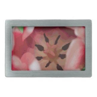 Rosa de la flor de la acuarela hebillas cinturón