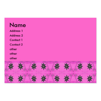rosa de la flor de la estrella plantillas de tarjetas de visita