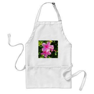 Rosa de la flor del hibisco delantal