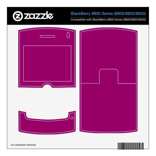 rosa de la frambuesa BlackBerry 8820 calcomanía