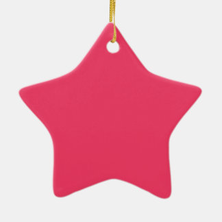 Rosa de la fresa adorno de cerámica en forma de estrella