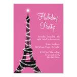 Rosa de la invitación de la torre Eiffel del día Invitación 12,7 X 17,8 Cm
