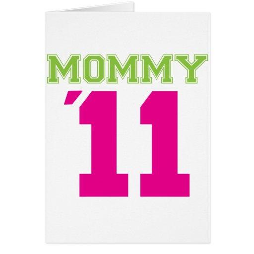 rosa de la mamá 2011 tarjeta de felicitación