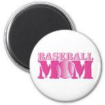 Rosa de la mamá del béisbol imán