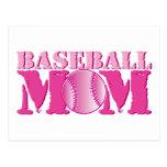 Rosa de la mamá del béisbol postales