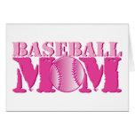 Rosa de la mamá del béisbol tarjetón