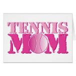 Rosa de la mamá del tenis felicitación