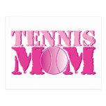 Rosa de la mamá del tenis postal