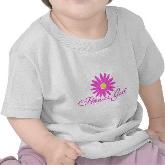 Rosa de la margarita del florista camiseta