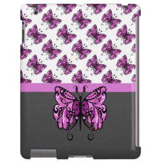 Rosa de la mariposa 1 de las lluvias funda para iPad