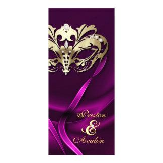 Rosa de la mascarada del oro Jeweled casando progr Tarjeta Publicitaria Personalizada