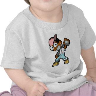 Rosa de la mascota de HoodNerd Camiseta