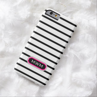 ROSA DE LA MODA IPHONE 6 CASE_BLACK/WHITE/HOT FUNDA DE iPhone 6 BARELY THERE
