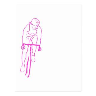 Rosa de la mujer del ciclo tarjeta postal