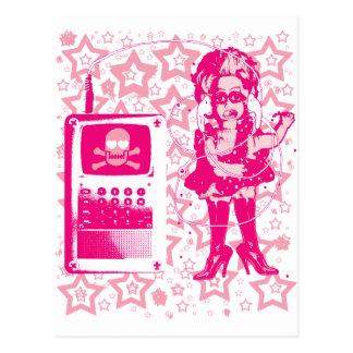 Rosa de la muñeca de Berlín-Techno-Tusii Postal