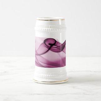 Rosa de la onda del arco iris jarra de cerveza
