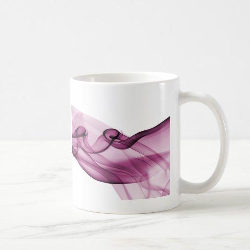 Rosa de la onda del arco iris taza de café