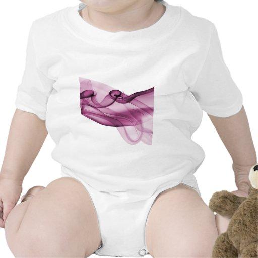 Rosa de la onda del arco iris trajes de bebé
