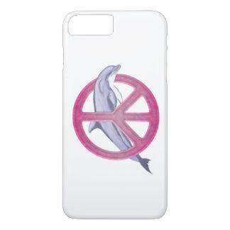Rosa de la paz del delfín funda iPhone 7 plus
